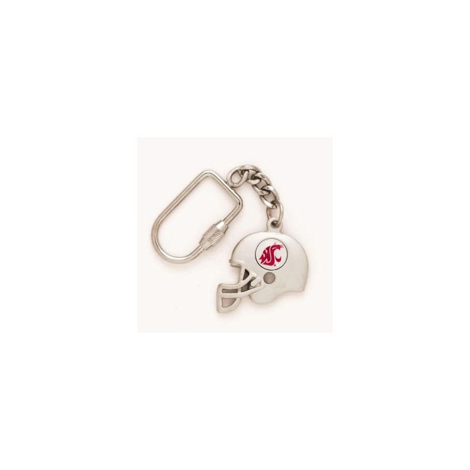 WASHINGTON STATE COUGARS OFFICIAL LOGO HELMET KEY RING