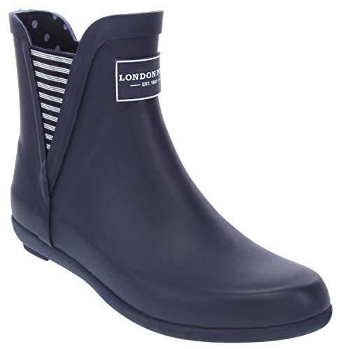 London Fog Womens Piccadilly Rain Boot Navy 9 M US