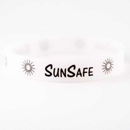 Sun Safe UV Wristband (Purple with UV Exposure, 8 Inches)