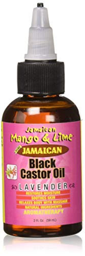 Jamaican Mango and Lime Black Castor Oil, Lavender, 2 Ounce (Castor Oil And Lavender Oil For Hair)