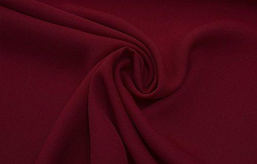 Casual Maniche Lunghe Top Camicia Donna Eleganti Camicetta Winered Sciolto Puro Moda V Abbigliamento Camicie Di Colore Chiffon Bluse Scollo Ragazza RwY66q