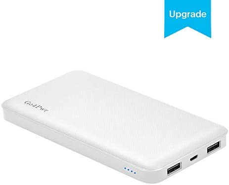 Power Bank,Go4Pwr 10000mAh Power Bank Portable Charger Powerbank 2-Port  External Battery Charger Compatible with Smartphone and More(White)