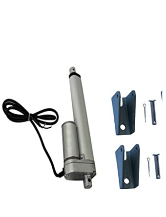 """Linear Actuator with Brackets 2/"""" Stroke 225 Pound Max Lift 12 Volt DC Heavy Duty"""