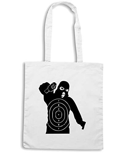 TARGET Borsa SHOOTER Speed Shopper Shirt Bianca TM00523 xUnxfqY58