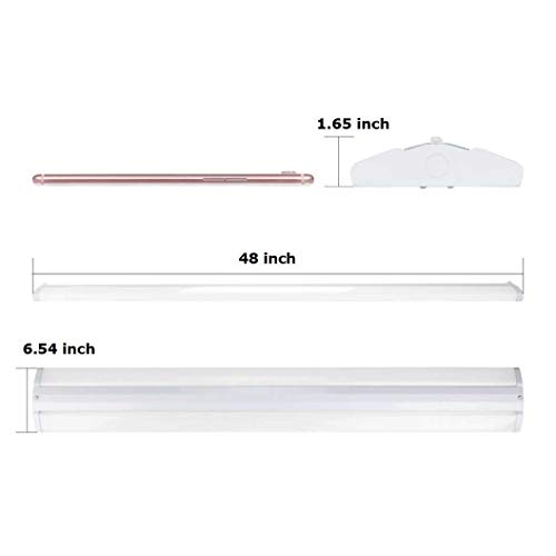 AntLux 4FT LED Wraparound Light Fixture 50W Ultra Slim LED Shop Lights for Garage, 5500 Lumens, 4000K Neutral White, 4 Foot Flush Mount Office Ceiling LED Wrap Light for Workshop Kitchen, 8 Pack by ANTLUX (Image #8)