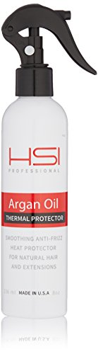 HSI PROFESSIONAL Thermal Protector 450 with Argan oil for Flat Iron, infused with vitamins a, b, c, & d, sulfate free, Made in USA, 8oz, (Packaging May Vary)