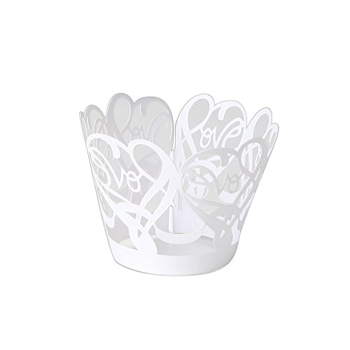 candybox Love Laser Cut Lace Cupcake Muffin Wrappers Cases W