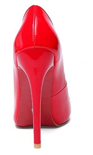 Escarpins Mode Cheville Pointues Bride Rouge Stiletto Aisun Femme 5vqxZnYx