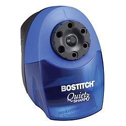Bostitch QuietSharp 6 Classroom Electric Pencil Sharpener, 6-Holes, Blue (EPS10HC)