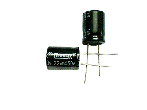 22uF 450V 16X22 +/-20% -25°C to +105°C 10PCS Aluminum Electrolytic Capacitors