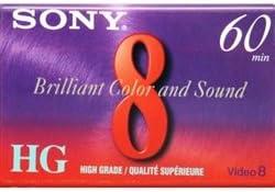 Sony P6-60HG 60 Minute High Grade 8mm Tape