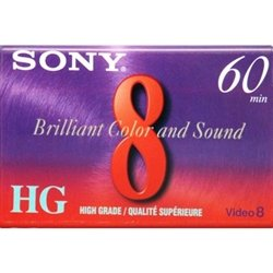 Sony P6-60HG 60 Minute High Grade 8mm Tape