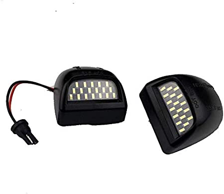 2-Pieces Lightdu Full LED License Plate Light Assembly Replacement Compatible with Ford F-150 F-250 F-350 F-450 F-550 Superduty Ranger Pickup Truck Explorer Bronco Excursion Expedition White Lamp