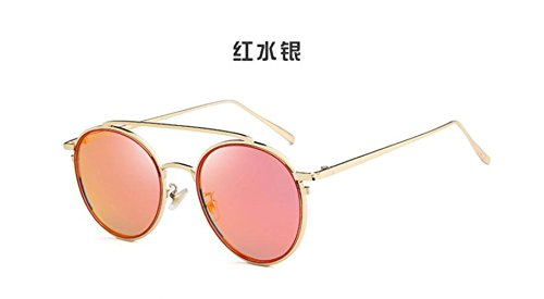 Red doble LSHGYJ gafas de GLSYJ Mercury moda de coreano sol gafas sol metal en Versión brillante gafas gafas haz retro de sol color de de qXg4wXWAn
