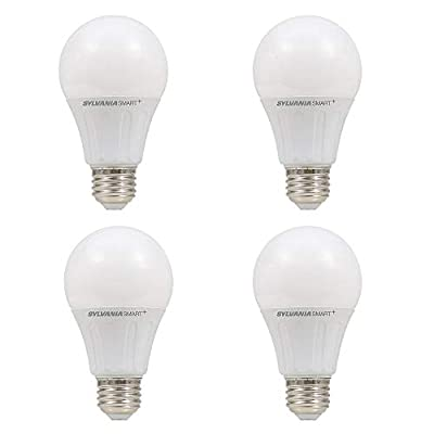 Sylvania Lightify 10W 60W 10 Year A19 White Smart Home LED Light Bulb (4 Pack)