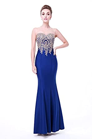 Annies Bridal Womens Formal Mermaid Evening Dresses Long Prom Gowns Royal Blue US20W