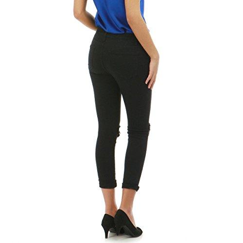 La Modeuse - Jeans Coupe Slim Noir