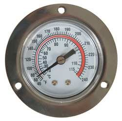 Industrial Grade 1EPE5 Panel Mount Thermometer, 40 to 240 - Thermometer Panel Mount