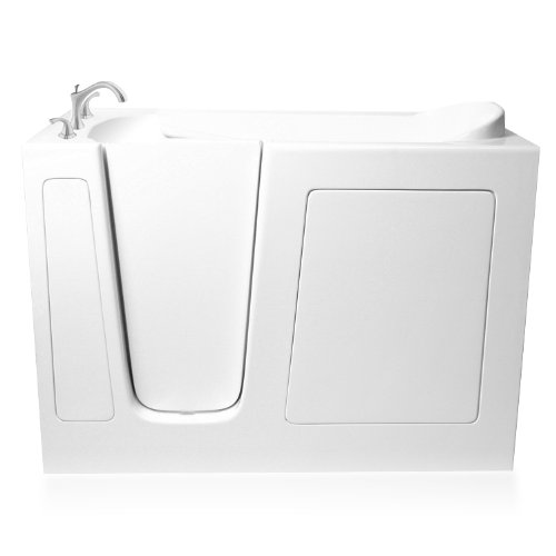 Ariel EZWT-3048-DUAL-L Walk in Bathtub Left Side Drain, White