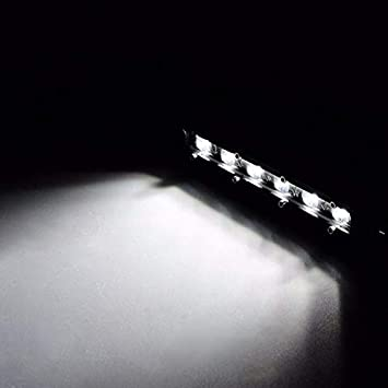 Camion 4 x 4 12 V per Fuoristrada ATV SUV BEESCLOVER Auto Barra Luminosa a LED Singola da 18 W 24 V Trattore