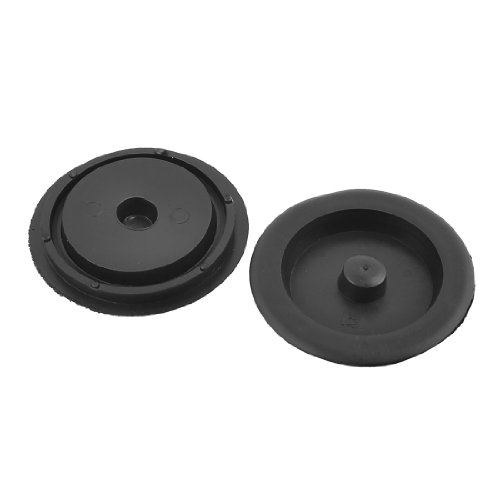 Disposer Plastic (OKSLO Home kitchen black plastic garbage disposer water sink stopper 2 pieces)