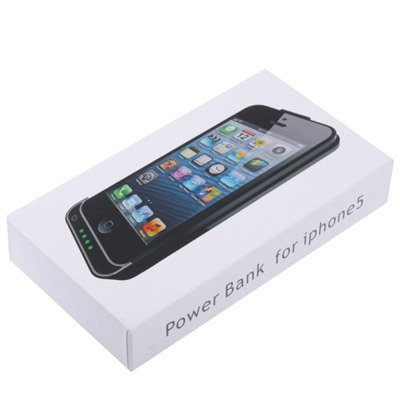 COVER CASE CON BATTERIA INTEGRATA DA 2200mAh PER IPHONE 5