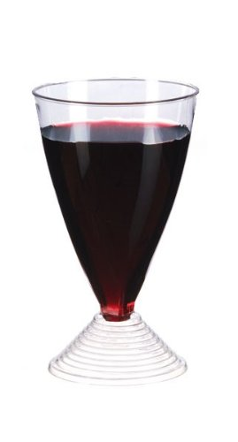 Plastic Stemmed Wine Glass (Case of 120), PacknWood - Recyclable Plastic Wine Drinking Cups (5 oz, 2.7