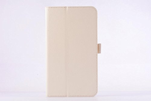 HYS Asus Fonepad 8 (Fe380cg) Case, Lightweight Pu Leather Folio Built-in Magnet for Sleep / Wake Feature Hard Shell Case Cover for Asus Fe380cg (Litchi White)