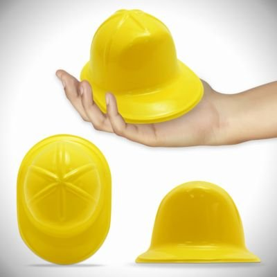 Yellow Plastic Mini Construction Hats 12 (Plastic Construction Hat)