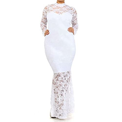Plus Size White Lace Dress Amazon
