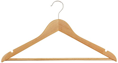 Review AmazonBasics Wood Suit Hangers