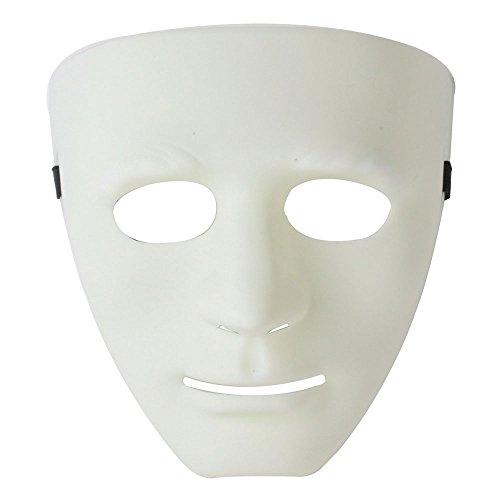 [niceeshop(TM) Male Mask Halloween Costume Drama Mask (White,1 Pieces)] (Drama Mask Costume)