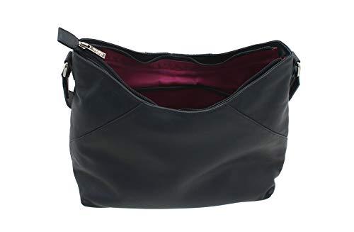 Marino Mala Shoulder Prugna Blu Tweed Abertweed Range Pelle Punto Di Bag E 7132 40 ZxfqOnd