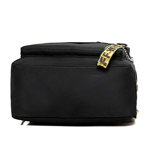 Ribbon Fashion Waterproof Light Shoulder Travel Nylon Vhvcx Student Bag Female E Backpack Wild Bq0nT5d