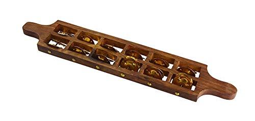 K N musical Instruments Jhika Cymbal Handmade Indian Musical Instrument jhumka Fibre Dafli/Tambourine