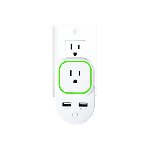 Zooz Z-Wave Plus Smart Plug with 2 USB Charging Ports