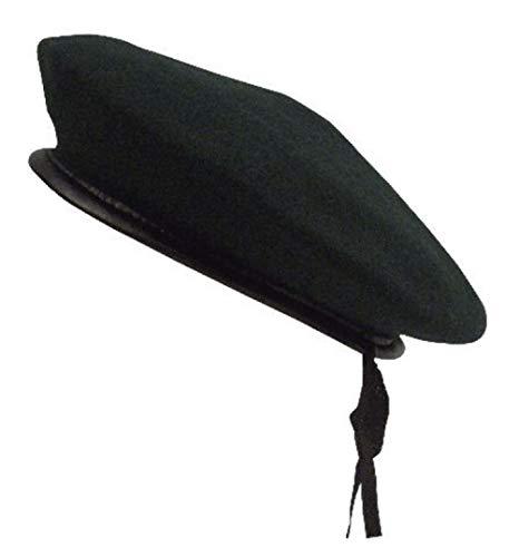 hersrfv clothing Us Military Army Black Red Green Wool Monty Beret Hat Cap Vinyl Trim Drawstring