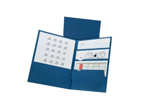 Oxford Divide it Up, 4 Pocket Folder, Navy, Letter Size, 25 per box (57513EE)