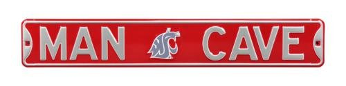 """Washington State Cougars""""MAN CAVE"""" Authentic Street Sign"""