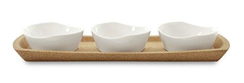 BergHOFF 4 Piece Eclipse Porcelain Snack Bowl Set, White