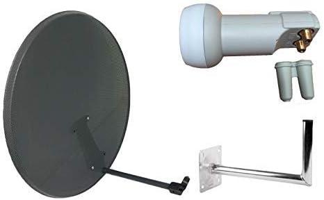 Antena parabólica de malla de 80 cm para cielo, freesat, Polsat, Hotbird, Eurosat, Astra 1 y 2