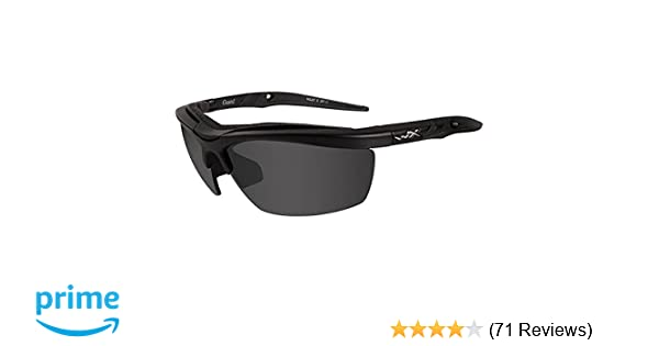 81fecac297f4 Amazon.com: Wiley X Guard Sunglasses, Smoke Grey/Clear/Light Rust, Matte  Black: Sports & Outdoors