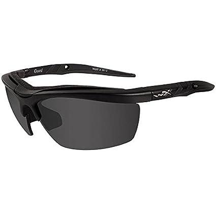6c2fc335eda8 Amazon.com: Wiley X Guard Sunglasses, Smoke Grey/Clear/Light Rust, Matte  Black: Sports & Outdoors