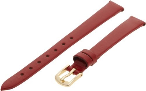 Watch 10 Band Mm (Hadley-Roma Women's LSL702RQ-100 10-mm Red Genuine Leather Watch Strap)
