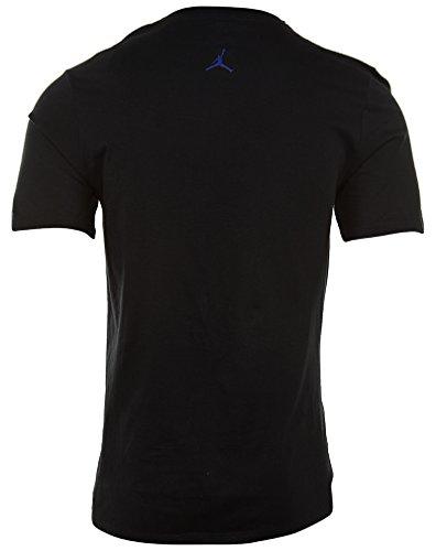 Jordan Crew Neck Neck T-shirt Pour Homme Noir / Violet