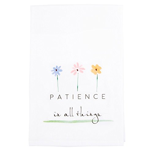 Message Brands God Notes Patience In All Things Flour Sack Dish Towel 28 x 29 inches 100% Cotton by Message Brands