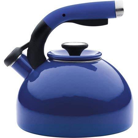 Circulon Enamel-on-Steel Teakettle, 2-Quart, Morning Bird, Royal Blue