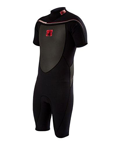 Body Glove Method 2.0 Back Zip Spring Performance Wetsuit, Black, Medium/Tall