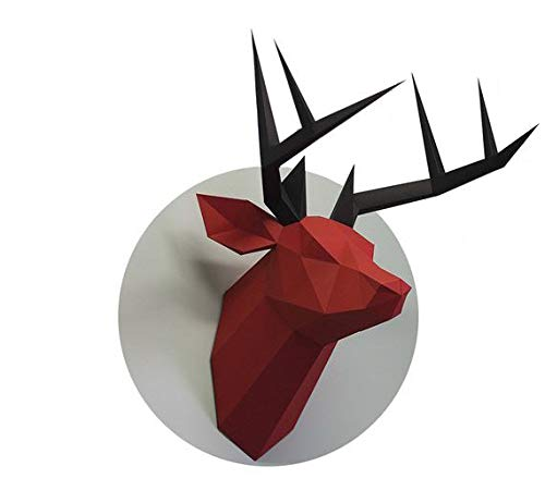 Amazon com: Deer Head - DIY Papercraft Kit 3D Model Building