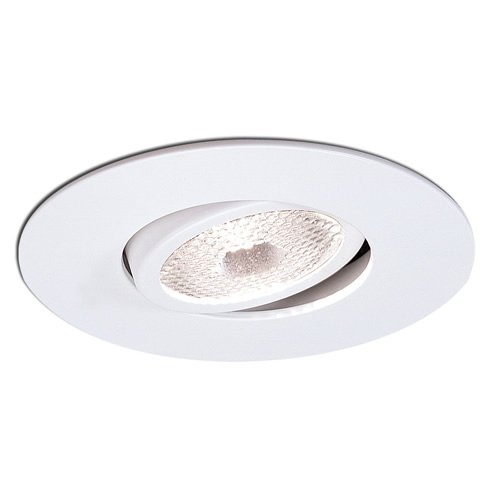 Gimbal Ring Recessed Lighting - Nora Lighting NS-12W 4 Inch Surface Gimbal Ring Trim Round White